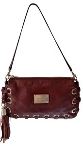 Michael Kors Burgundy Clutch