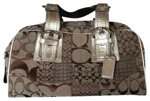 Coach Satchel in Brown/ Gold