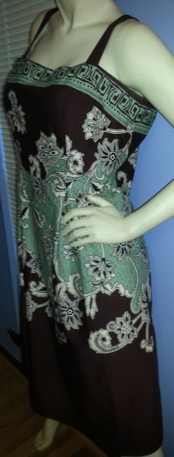 Madison Leigh short dress Brown, green, beige on Tradesy