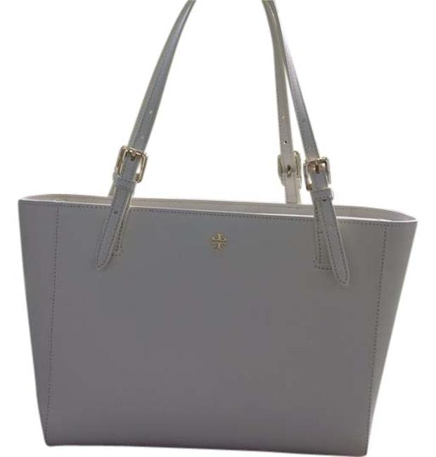 Item - York Small Buckle Cream Leather Tote
