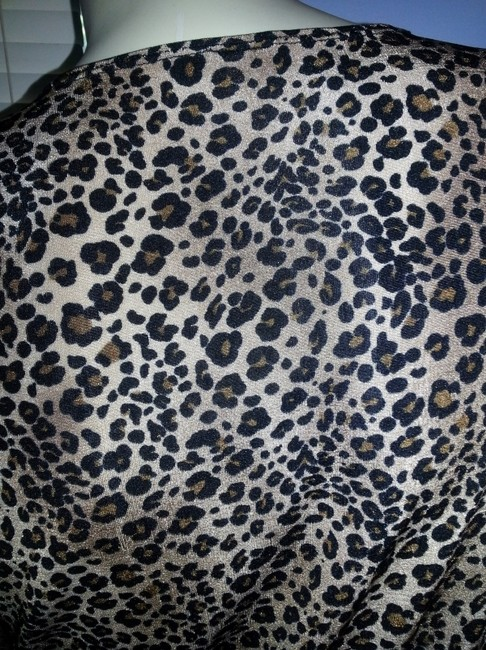 Citiknits Top Black and brown animal print