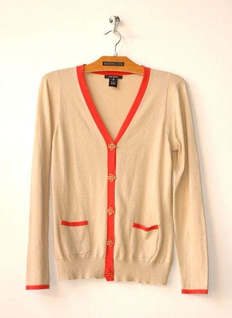 Pink Tartan Piping Golden Pop Cardigan