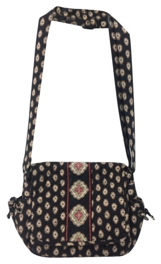 Vera Bradley Sparkle Shimmer Sueded Satchel in Classic Black