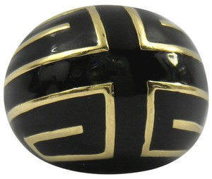 David Webb David Webb Black Enamel Gold Ring