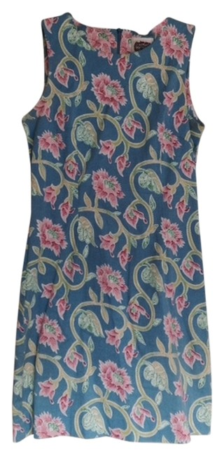 Preload https://item5.tradesy.com/images/blues-pinks-and-greens-italian-above-knee-workoffice-dress-size-8-m-4192834-0-0.jpg?width=400&height=650