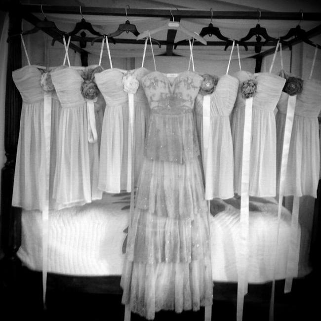 Item - Dusty Rose Rosecliff Gown Vintage Wedding Dress Size 6 (S)