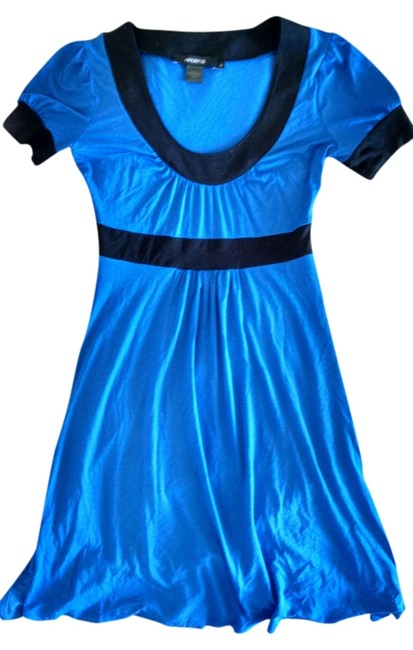 Arden B. short dress Blue Black Neon Color-blocking on Tradesy