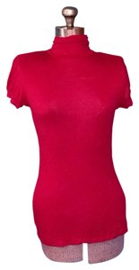 Fleurish High Neck Soft T Shirt Red