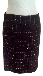Ann Taylor Tweed Pencil Skirt Black