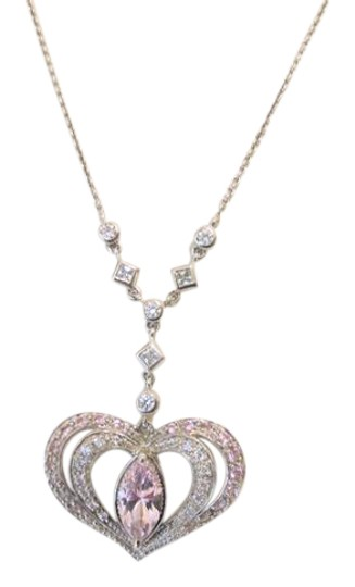 Preload https://img-static.tradesy.com/item/4193866/victoria-wieck-925-sterling-silver-absolute-pink-diamond-heart-design-pendant-necklace-0-2-540-540.jpg