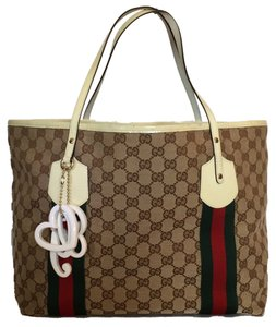 efdc181c7593b9 Gucci Large Jolie Canvas Print Gg Summer Cute Pre-owned Brown Logo Handbag  Monogram Sale