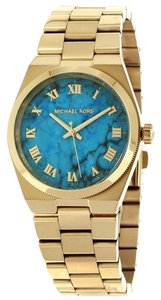 Michael Kors Michael Kors Women's Channing Gold-Tone Stainless Steel Bracelet Watch 38mm MK5894