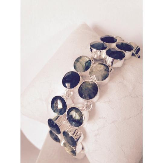My Closet- Embellished by Leecia Embellished by Leecia Checkerboard Faceted Blue Labradorite Bracelet