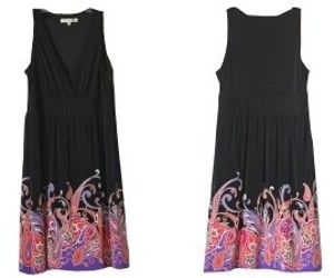 Evan Picone short dress Black with paisley print on Tradesy
