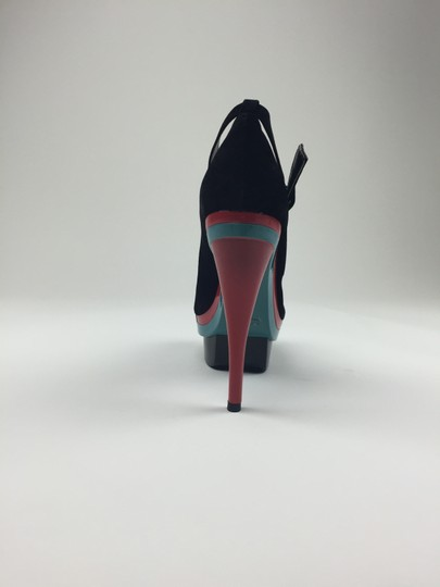 Other Heels Strap Black, Teal, Fuchsia Pumps