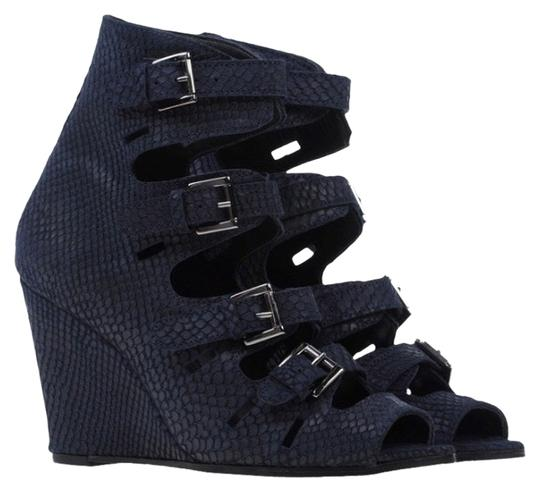 Surface to Air Navy Blue Wedges