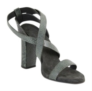 Brunello Cucinelli Green, silver, grey Sandals
