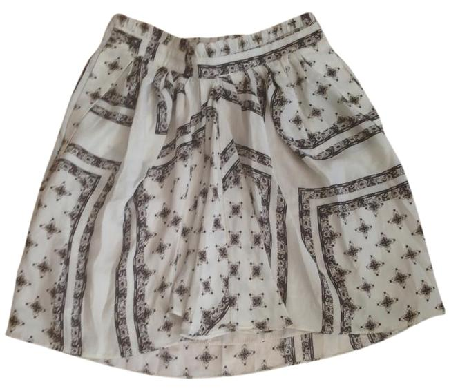 Zara Silk Detail Print High Street Breathable Flowy Pleated Wedding Spring Spring Wedding Guest Silk Winter Mini Spring Mini Skirt Cream