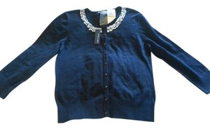 Cable & Gauge Jewels Sweater Beaded Cardigan