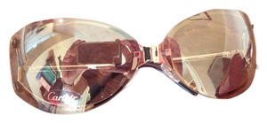 Cartier Authentic Cartier gold rimless wrap sunglasses with gorgeous Cartier case. Never been worn-Pristine condition!