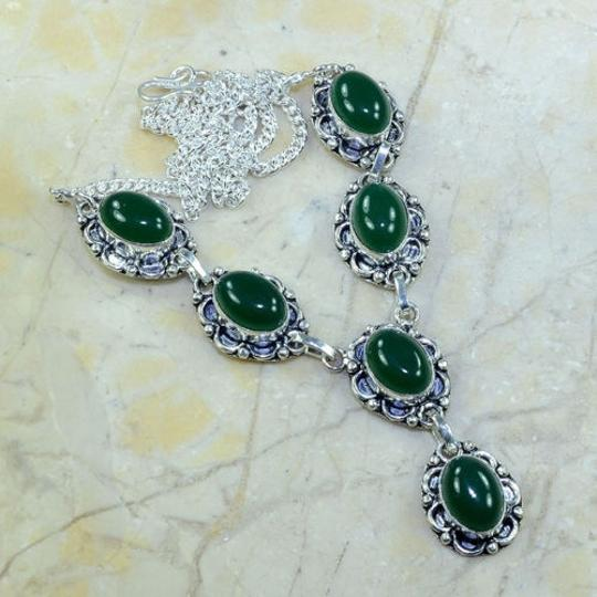 Silver/ Green Price Bogo Free Any Two Listings One Price Free Shipping Necklace