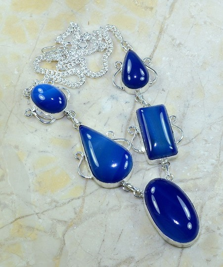 Silver/Blue Deal Of The Day Bogo Free Any Two Listings Pay One Price Fs Necklace
