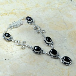Sexy Black Onyx Y Necklace Free Shipping