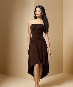 Alfred Angelo Chocolate Style 6589 Dress