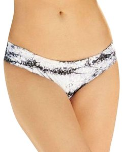 Lucky Brand LUCKY Brands Animal Print Tie Dye Hipster Bikini Swimsuit Bottom Black White