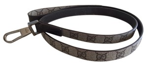 Gucci Brand new, Gucci Dog Leash in Signature GG Gucci Canvas and Brown leather
