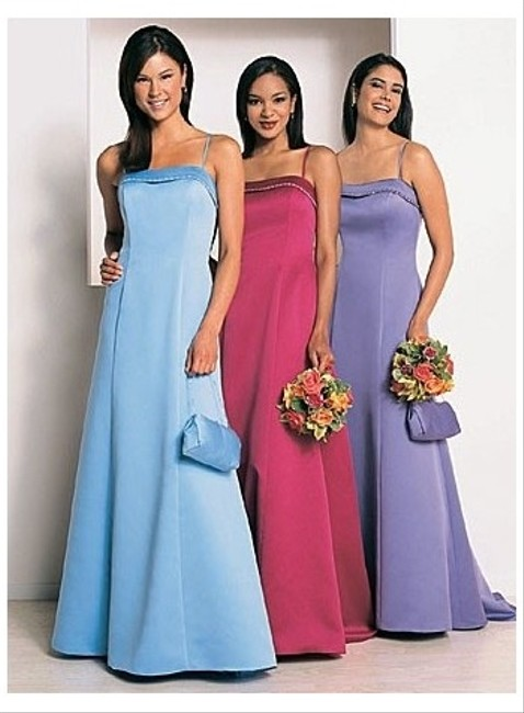 Item - Blue Jay Satin Style 6125 Formal Bridesmaid/Mob Dress Size 10 (M)