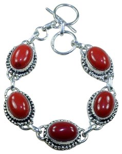 Antiqued red coral bracelet free shipping