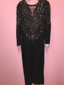 Laurence Kazar Black Sequin Dress