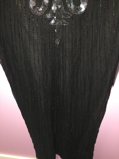 """Laurence Kazar Black Sequin Dress""""Out Of The Attic"""" Formal Bridesmaid/Mob Dress Size 10 (M)"""