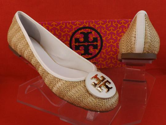 Tory Burch White/Natural Flats