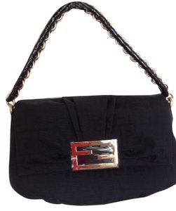 Fendi Jacquard Canvas Monogram Tote Shoulder Bag