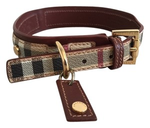 Burberry Burberry Signature Haymarket Check Dog Collar
