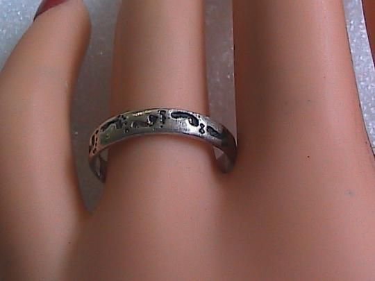 Other Sterling Silver Etched Band Ring