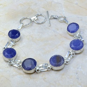 Natural Untreated Sapphire Bracelet Free Shipping