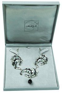 Lalique Lalique Stylized Seahorse Sterling Silver Necklace