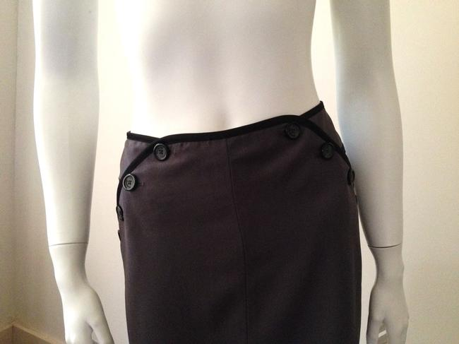 Alice Temperley for Target Grey Buttoned Mini Skirt Grey, Black