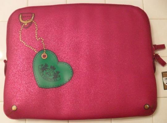 Juicy Couture Juicy Couture Pink Glitter Jelly Laptop Sleeve Case NWT