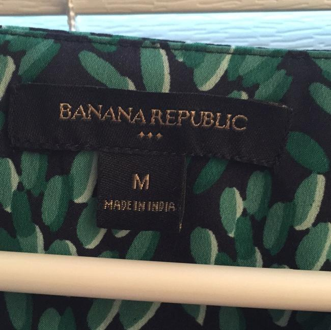 Banana Republic Top Navy and Green