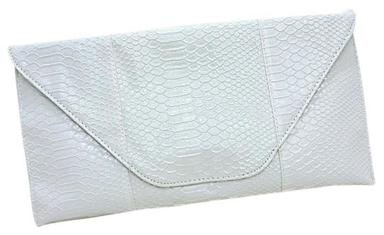 Other Snakeskin White Clutch
