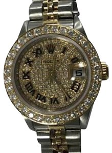 Rolex Automatic Ladies 26mm Stainless Steel and Gold Two-tone Rolex Datejust