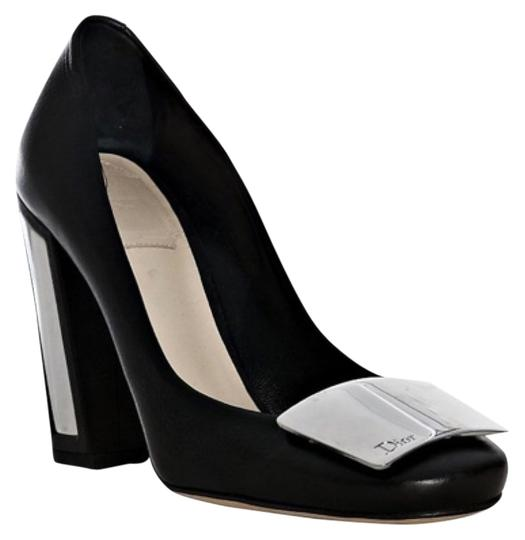 Preload https://item1.tradesy.com/images/dior-blac-leather-escarpin-plaque-pumps-size-us-8-regular-m-b-4200535-0-0.jpg?width=440&height=440