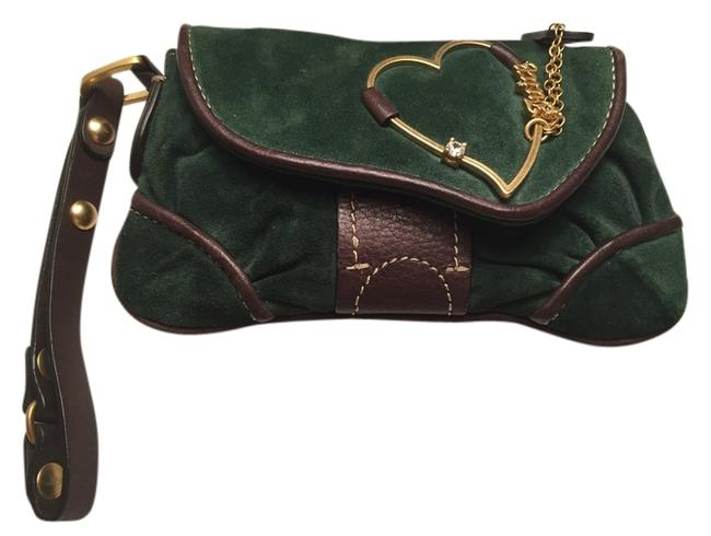 Item - Green Suede/Leather Wristlet