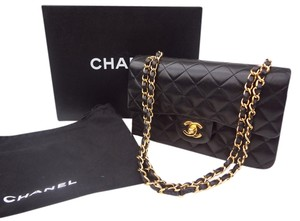 Chanel France Double Flap Classic 2.55 Lambskin Quilted Vintage Shoulder Bag