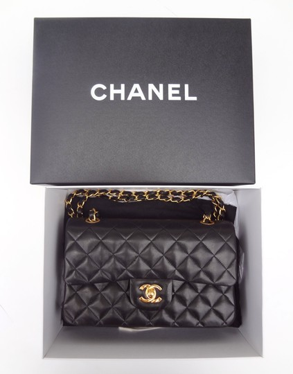 Chanel France Double Flap 2.55 Lambskin Quilted Shoulder Bag