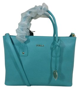 Furla Tote in Blue Green
